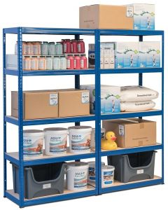 2x Storalex VRS Heavy Duty Industrial Shelving - 280kg - Blue