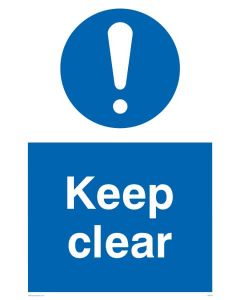 Keep Clear - Mandatory Sign