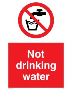 Not Drinking Water - Prohibition Sign