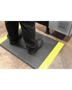 Orthomat Standard Anti-Fatigue Mat - Black & Yellow