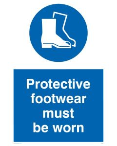 Protective Footwear Must Be Worn - Mandatory Sign