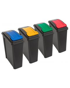 4x 25 Litre Slimline Recycling Bin with Lid