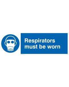 Respirators Must Be Worn - Mandatory Sign