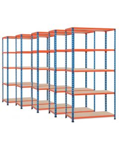 5 X STORALEX SX200 BAYS -  2.44M HIGH - (3 WIDTHS & DEPTHS) - 200KG UDL - 4/5/6 LEVELS
