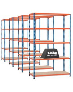 4 X STORALEX SX200 BAYS - 2.44 HIGH - (3 WIDTHS & DEPTHS) - 200KG UDL - 5/6 LEVELS