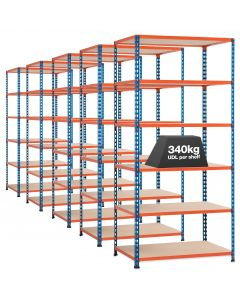 5 x Storalex SX340 Bays - 1980mm High - (4 widths & 3 DEPTHS) - Up To 340kg UDL - 4/5/6 LEVELS
