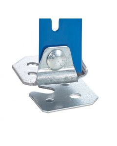 Pack of 4 Storalex SX400 / SX800 Single Steel Feet - Includes Fixings & Levelling Plates - Galvanised