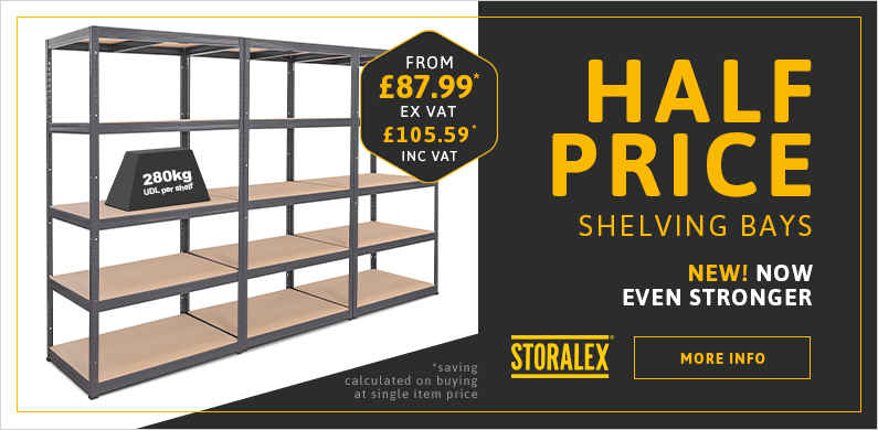 Homepage Metal Shelving Offer
