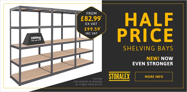 3x Industrial Shelving Special Offer Banner